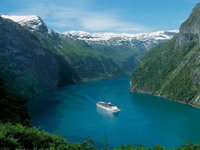 En crucero por los fiordos noruegos