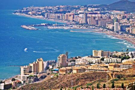 Vista panorámica de la costa de Benalmádena y Fuengirola