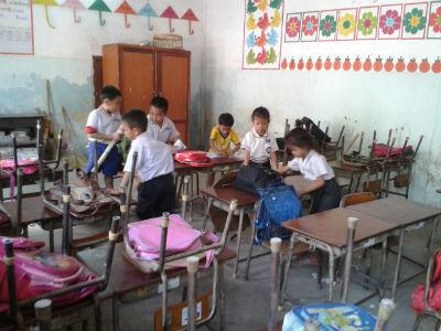 Escuela infantil en la capital de Laos