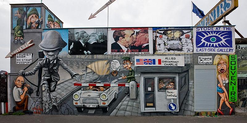 Graffiti sobre el Muro de Berlín