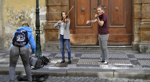 Música clásica en las calles de Praga