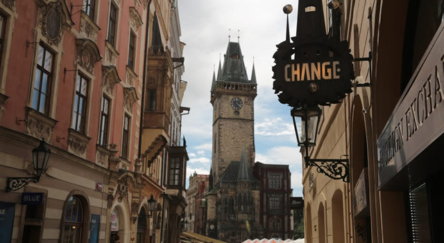 Casa de cambio en Praga