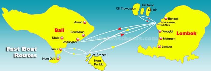 Fastboats entre Bali y Gili Islands