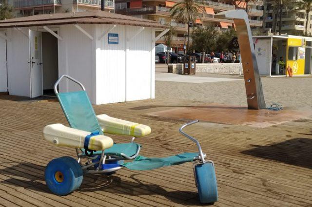 Playa adaptada para minusválidos en Fuengirola