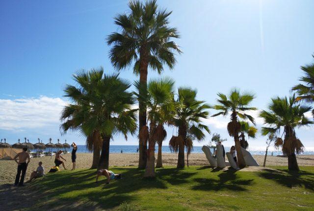 Deporte en la playa de Fuengirola