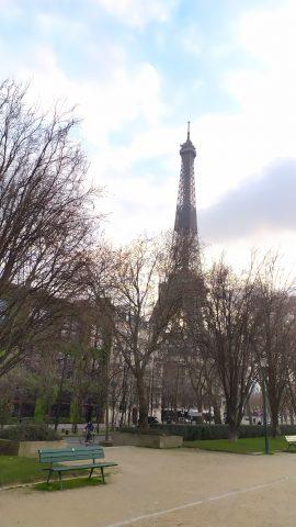 Torre Eiffel de París en tiempos del Covid-19