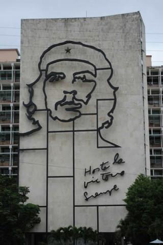 Mural gigante de Che Guevara en La Habana