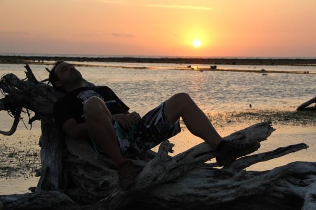Descanso con puesta de sol