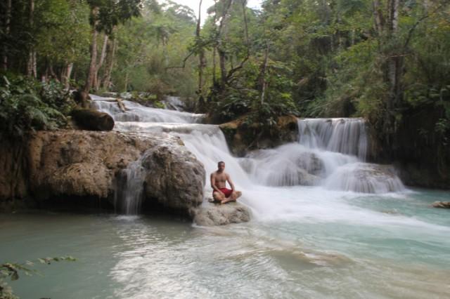 Cascada en Cascada en Luang Prabang, Laos
