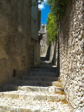 Calle empedrada de Orvinio