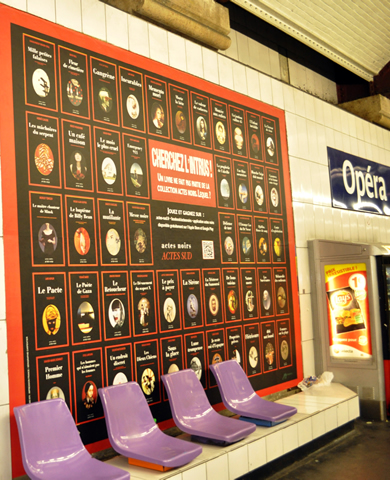 Estación Ópera del metro de París
