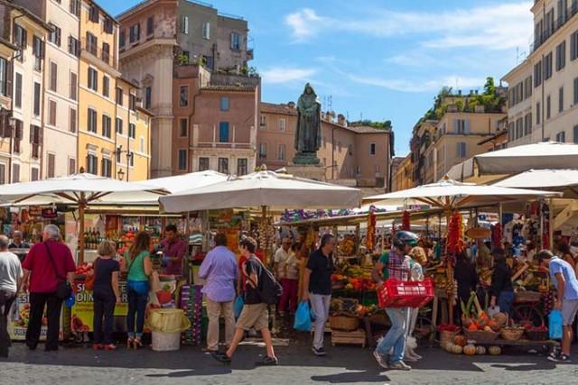 Campo de' Fiori, un tesoro en el centro de Roma
