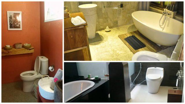 Baños de hotel en Bali