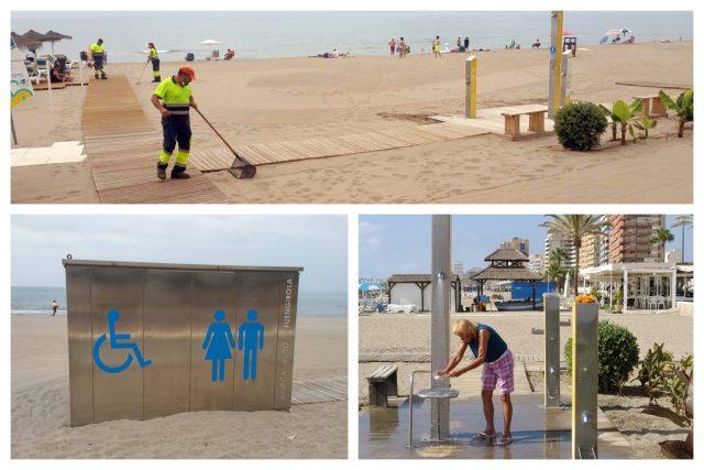 Limpieza en las playas de Fuengirola