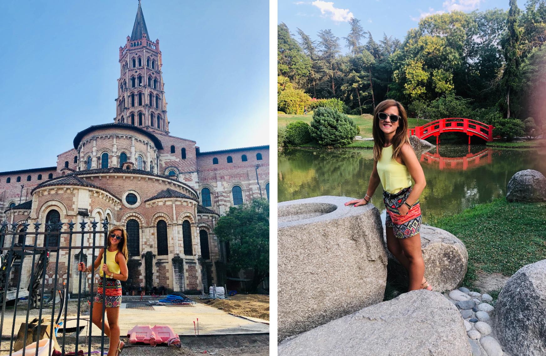 Basílica de Saint-Sernin de Toulouse y Jardín Japonés