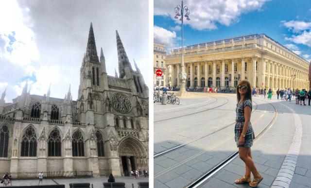 Catedral y teatro de Burdeos, Francia