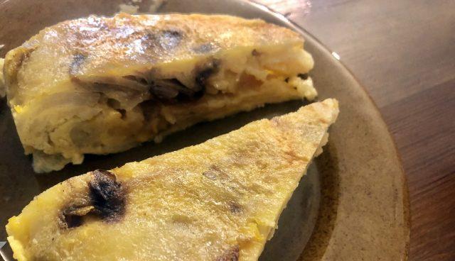 Tortilla de patatas en Melide