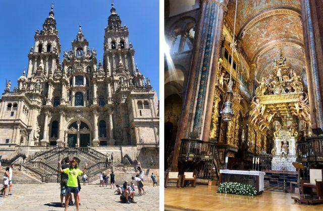 Exterior e interior de la Catedral de Santiago