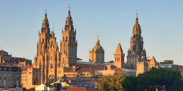 Vista de la Catedral de Santiago de Compostela