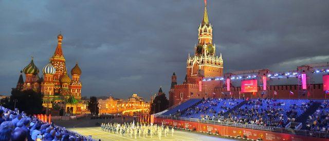 Festival Spasskaya de Moscú de música militar en la Plaza Roja