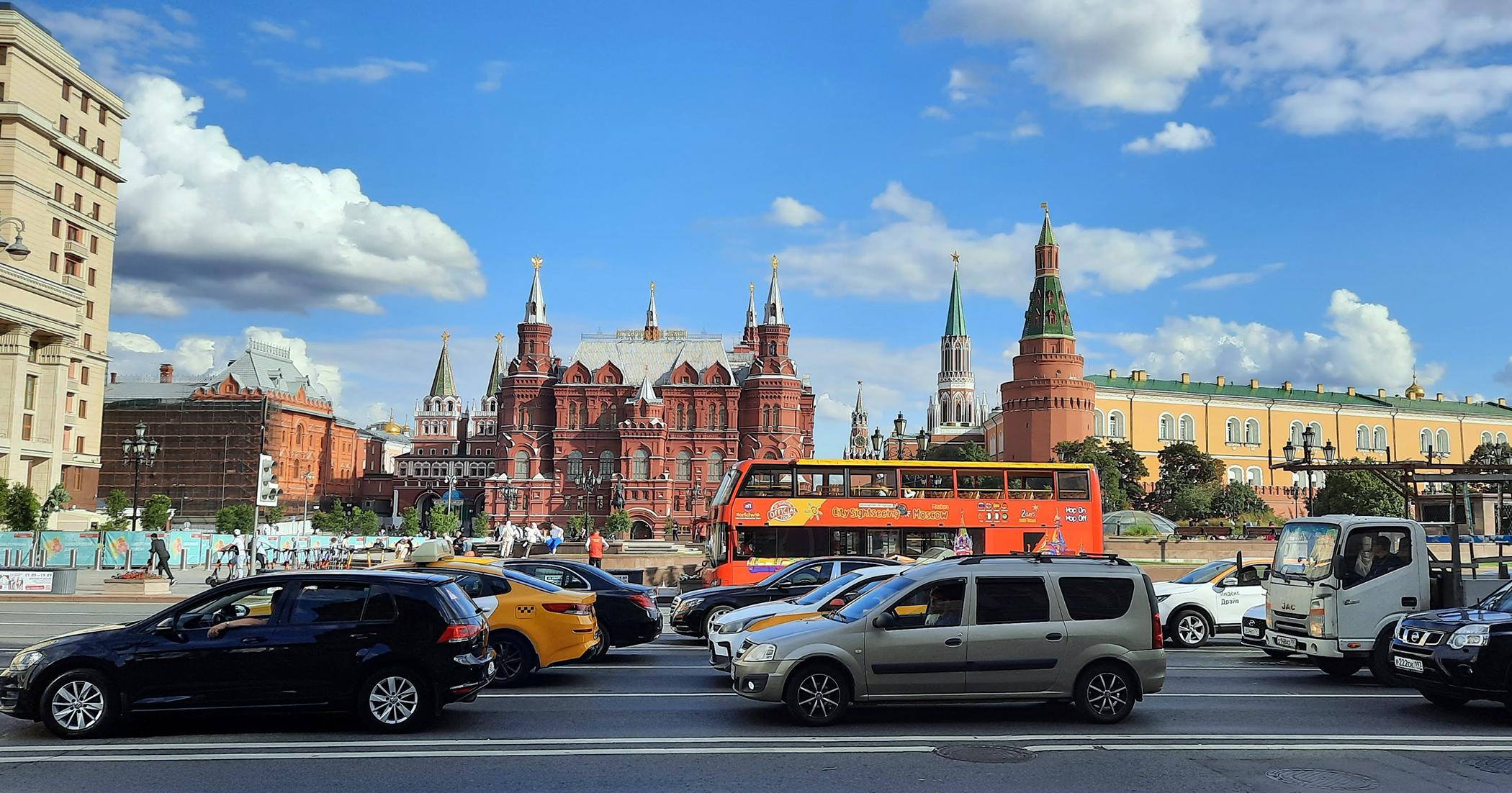 Tráfico en Moscú
