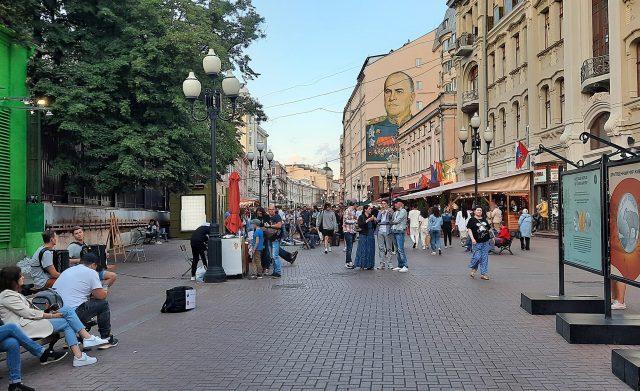 Calle Arbat de Moscú